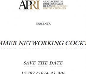 17/07/2014: APRI presenta su primer Summer Networking Cocktail