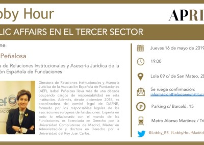 16 de mayo  2019 – Lobby Hour: Public Affairs en el Tercer Sector