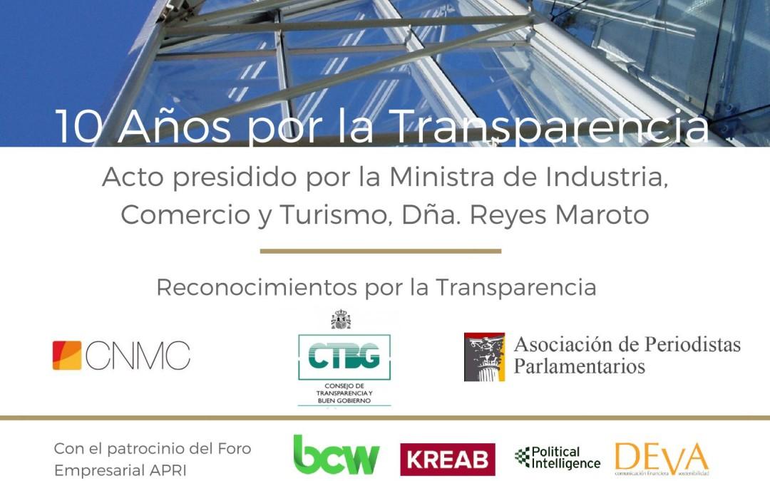 """10 Años por la Transparencia"": APRI celebra su 10º Aniversario"