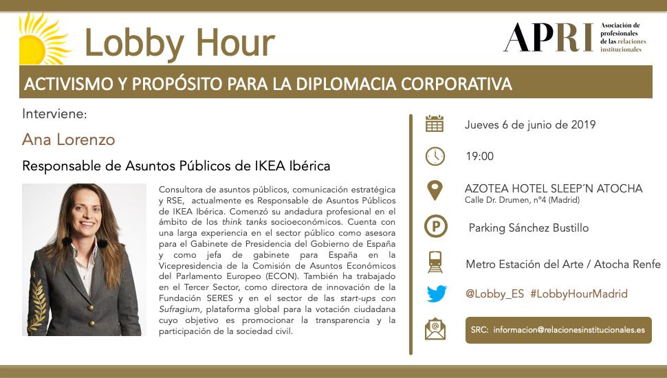 6 de junio 2019 – Lobby Hour: Activismo y Propósito para la Diplomacia Corporativa